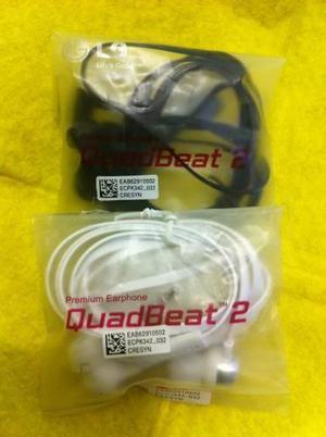 Audifonos Earphone Lg G3,g4,g2 Quadbeat 2 Tipo Original