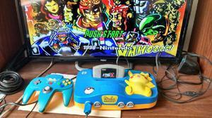 Nintendo 64 Versión Pikachu. Japonés