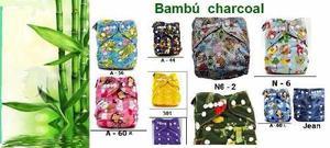 Pañales De Tela Bambú Charcoal ¨mi Bebe¨ Pañales