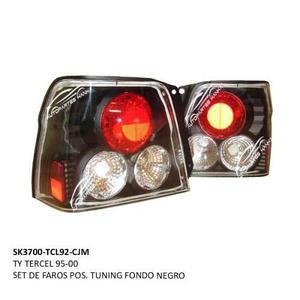 Ty Tercel 95 Al 03 Set De Faros Pos. Tuning Fondo Negro