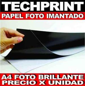 Papel Foto A4 Imantado Brillante Impresion Lamina Magnetica