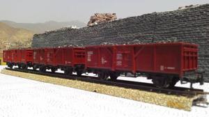 Tren Vendo Tres Vagones De Minerales Marklin Ho