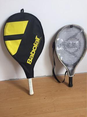 Vendo Raquetas De Tenis Babolat Y Dunlop Para Niños