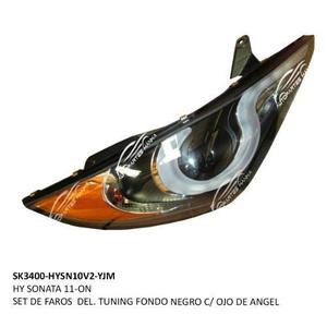 Hy Sonata 11-on Set De Faros Del. Tuning Fondo Negro