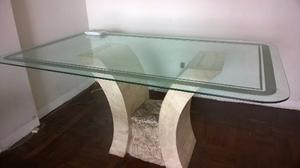 Mesa ovalada comedor o cocina y sillas posot class for Mesas de comedor de vidrio