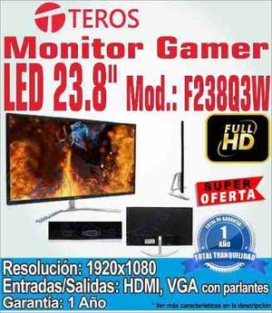 Monitor Gamer Teros 24 F238q3w Led Ips Hdmi Parlantes Fulhd