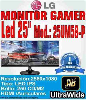 Monitor Led Ips Lg 25 25um58 Ultrawide Full Hd Diseño Arqui