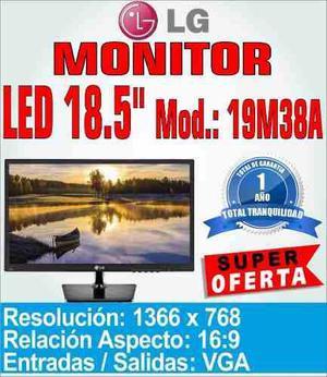 Monitor Led Lg 19 Vga 19m38a 1366x768 Hd Oficina Hogar 2016