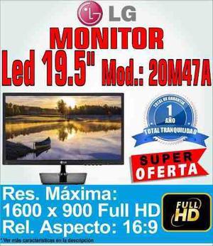 Monitor Led Lg 20 Modelo 20m47a 1600x900 Vga Diseño 2016