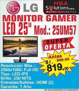 Oferta Monitor Gamer Led Ips Lg 25 Mode. 25um57 S/. 819.00