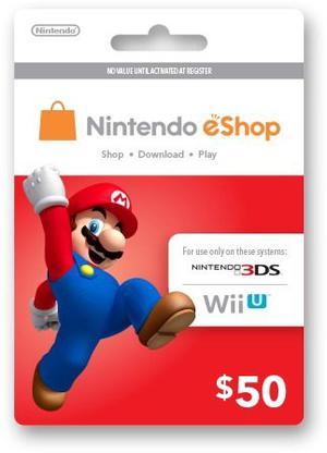 De Mrcargas Nintendo Eshop $50 Card Usa 3ds Wii U Tarjeta