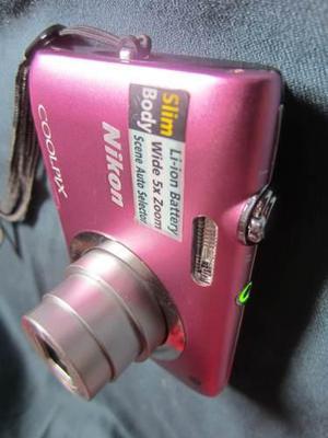 Camara Nikon Coolpix S2600 14mp Video Hd Zoom X5+ Sd 4 Gb