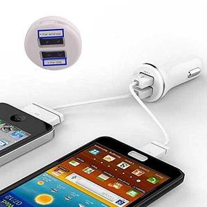 Cargador Usb Dual Para Auto Apple Samsung Motorola Lg Iphone