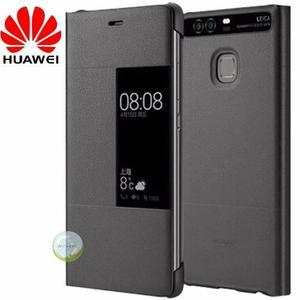 Case Flip Cover Smart Protector Cuero Huawei P9 Original