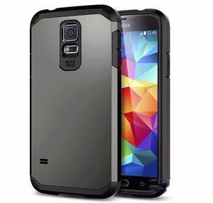Case Funda Spigen Samsung Galaxy S5 + Mica Vidrio Templado