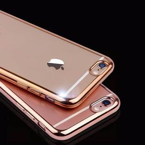 Case Funda Tpu Para Iphone 6, 6 S Protector Gold Silver