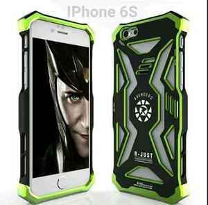 Case Iphone 6 Plus Protector Metal + Pc Diseño Avengers