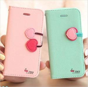 Case Protector Flip Cover Tarjetero Iphone 6/6s Cherry +mica