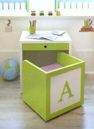 Escritorio con silla infantil melamine posot class - Silla escritorio infantil ...