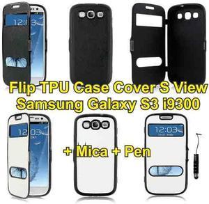 Estuche Tpu Flip Cover Samsung Galaxy S3 I9300 S View