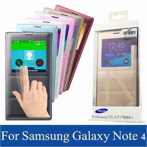 Flip Cover Original P/samsung Galaxy Note 4 Con Censor Nuevo