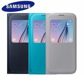Flip Cover Original S View Samsung Galaxy S6 Azul Oscuro