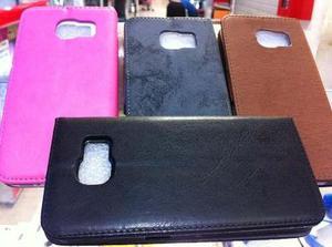 Flip Cover P/samsung S6, S6 Edge/cuero Importado /colores