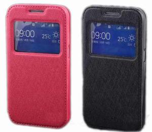 Flip Cover View Samsung Galaxy Core Prime G360 + Mica + Styl