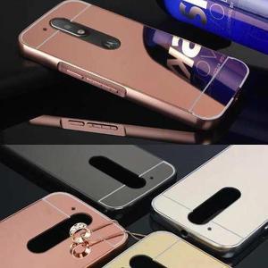 Funda Case Aluminio Espejo Motorola G2/ G3/ G4 Plus Cromado