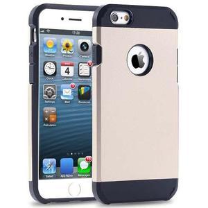 Funda Case Spigen Armor Gold Iphone 6 6s + Vidrio Templado