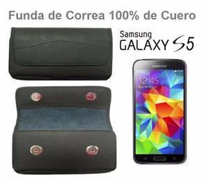 Funda De Cuero Elegante Para La Correa Samsung Galaxy S5