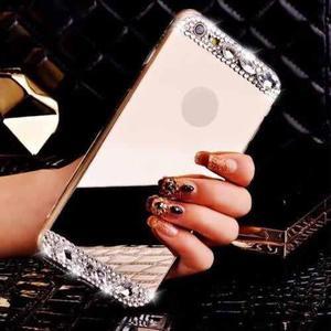 Funda De Diamante Con Espejo Dorado Para Iphone 6, 6s Y Plus