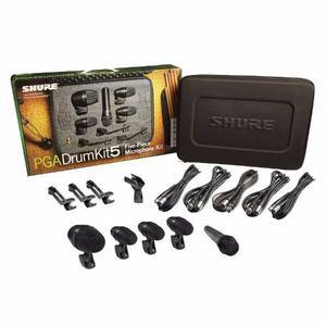 Kit De 5 Micros Para Bateria Shure Pgadrumkit5