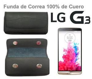 Lg G3 Funda De Cuero Con Clip De Correa Cierre Magnetico