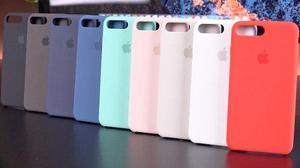 Oem Protector Case De Cuero O Silicona Iphone 7 Y Plus Logo