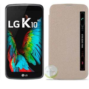 Protector Case Smart Flip Cover Sensor Lg K10 3 Colores!!!