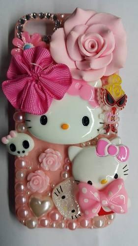 Protector Cover Adornos Hello Kitty Para Iphone 5/5s/se