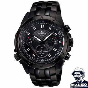 Reloj Casio Edifice Ef-535bk-1av - Nuevo En Caja - Garantía