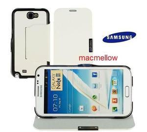 Samsung Note 2 Funda Flip Cover N7100 + Mica + Instalación