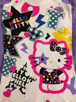 Top Polo Algodón Hello Kitty Mujer Talla Única Nuevo