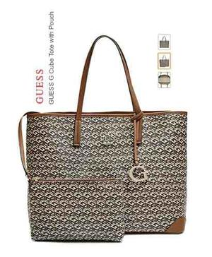 Cartera Guess Cube Tote With Pounch