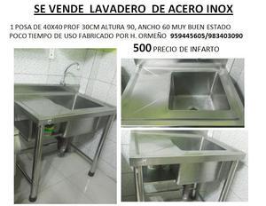 Lavadero de acero con mueble de melamine posot class for Lavadero acero inox