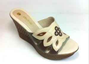 Sandalia De Cuero, Sandalia De Mujer, Liquidación Zapato