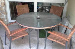 Vendo juego de terraza de mimbre modelo pantanal posot class for Vendo muebles terraza