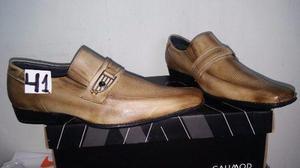 Zapato Calimod Talla 41 Peru Color Nutria Nuevo En Caja