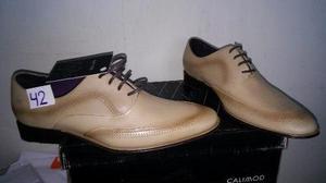 Zapato Vestir Calimod T42y44 Peru Color Arena Nuevos En Caja