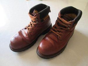 Zapatos Botines Caterpillar Cuero Punta De Acero Talla 42