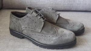 Zapatos Calzado Italiano Cuero Puro Talla 40 Al 42 Verano