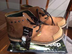 Zapatos Casuales De Cuero Jeep Nuevos Talla Única Nuevos