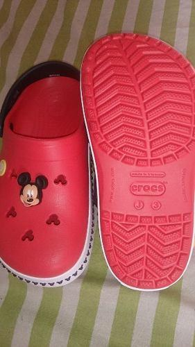 Zapatos Crocs Mickey Mouse Originales-talla 34/35- Unisex